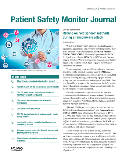patient safety monitor journal January 2021